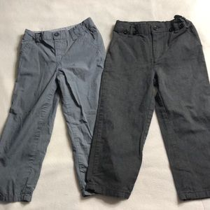 Set of 2- boys dress pants.